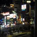 ミッドランドスクエア「スカイプロムナード」から見た夜景 - 37:セントラルタワーズの間から見た名古屋駅西