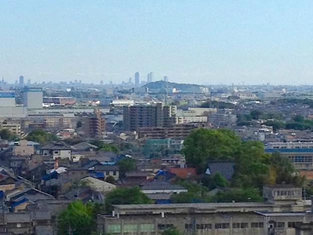 写真: 犬山城天守閣から見た名駅ビル群(2012年5月) - 2
