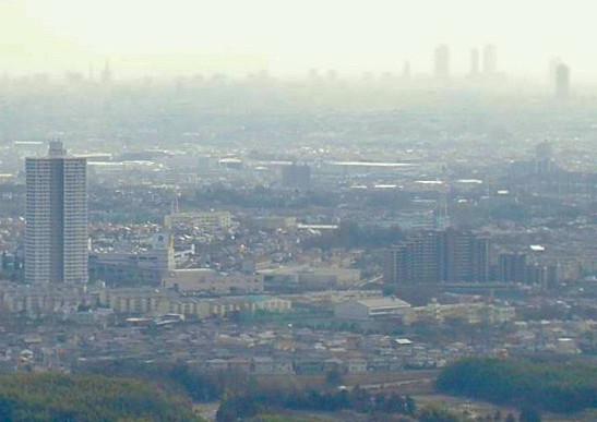 白山神社から見たスカイステージ33と名駅ビル群(2009年3月撮影) - 3