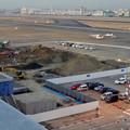 写真: 県営名古屋空港:エアポートウォーク名古屋の駐車場横で工事