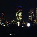 写真: 大池緑地公園から見た、夜の名駅ビル群 - 7:ミッドランドスクエアの壁面イルミネーションと名古屋城