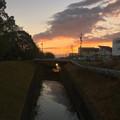 写真: 穏やかな冬の夕焼け - 4(生地川)