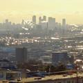 アピタ高蔵寺店屋上から見た景色 - 15:王子製紙の煙突越しに見えた名駅ビル群