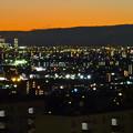 アピタ高蔵寺店屋上から見た景色(夕暮れ時) - 13:名古屋方面
