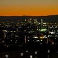 アピタ高蔵寺店屋上から見た景色(夕暮れ時) - 16:名駅ビル群