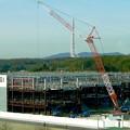 写真: リニモ車内から見えた建設途中の「IKEA長久手」 - 7