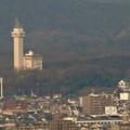 東山スカイタワー展望階から見た景色 - 5:スカイワードあさひと旭城