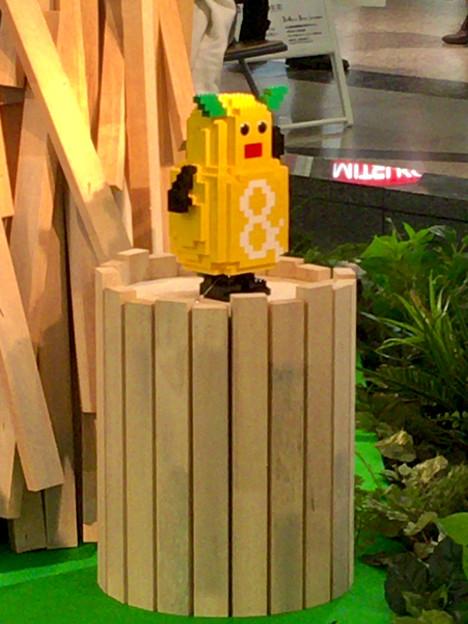 クリスタル広場:東山動植物園の80周年をPRするため、同園の有名なイケメンゴリラ「シャバーニ」のレゴ像を設置 - 6(ズーボ像)