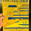 リニア鉄道館:『ドクターイエローの軌跡』展のチラシ