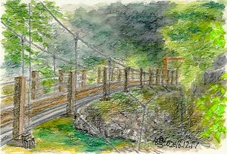 20161217三段峡の吊橋