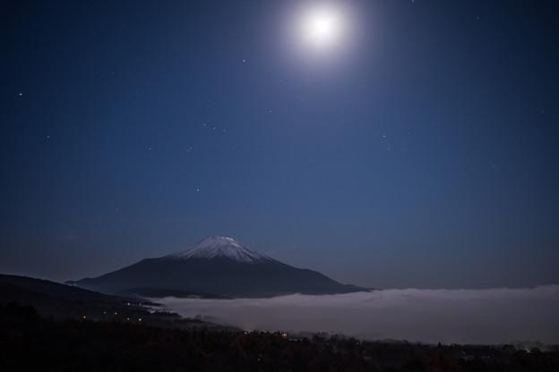 夜の秋富士