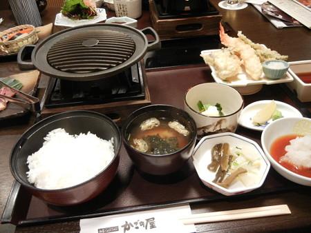 牛フィレステーキと天ぷら和膳