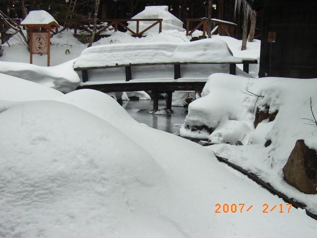 冬の平湯温泉