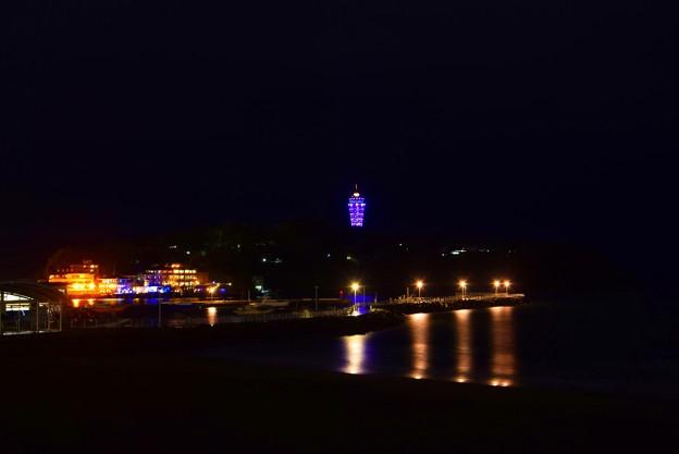 夜の江ノ島 #湘南 #藤沢 #海 #波 #beach #wave #夜景 #nightview