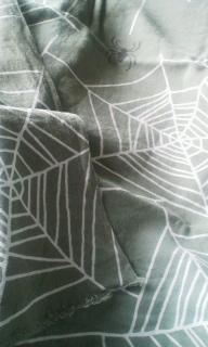 今日の手拭いはかまわぬの蜘...