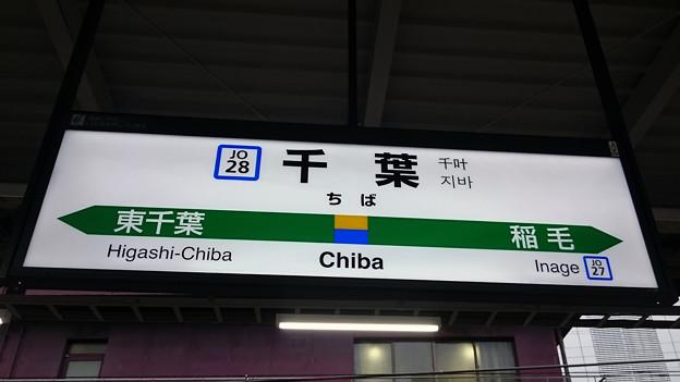 8番線駅名標 [JR 千葉駅]