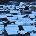 写真: 雪の町