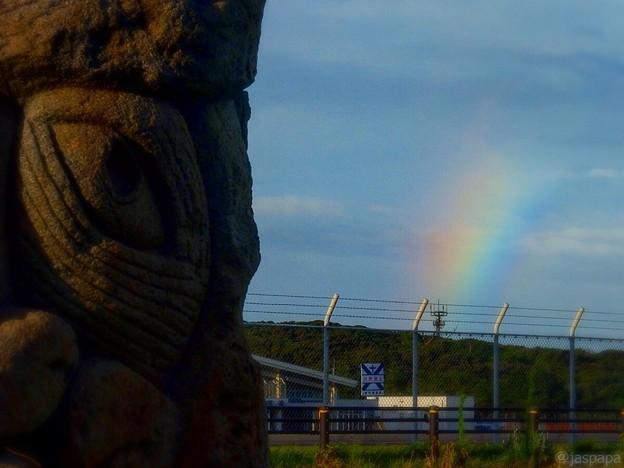 虹を見る目