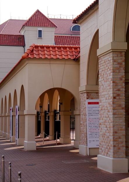 写真: 廻廊の影