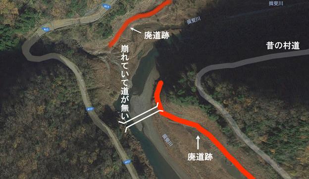 揖斐川町藤橋の橋の遺構