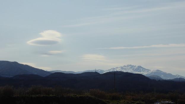 UFO雲と白山