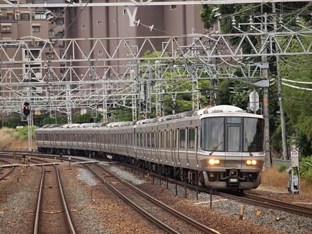 223系新快速東海道本線山崎駅02