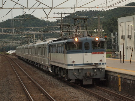 EF65  メトロ13000系甲種  東海道本線近江長岡駅01