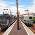 Photos: ED500 SLかわね路と南海21000系普通 大井川本線五和駅