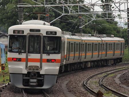 313系普通 東海道本線金谷駅01