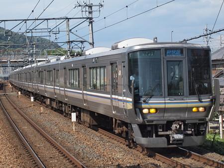 223系新快速 東海道本線島本駅02