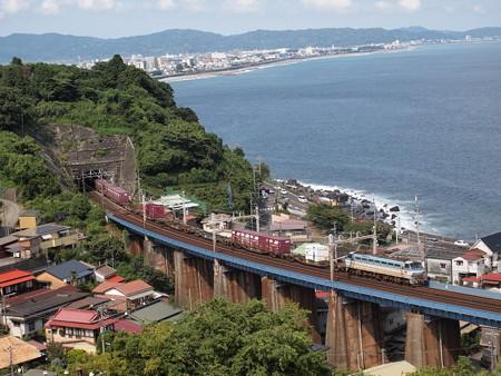 EF66貨物 東海道本線早川~根府川01