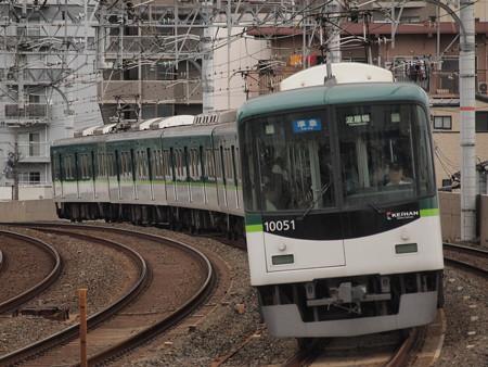 京阪10000系準急  京阪本線西三荘駅01