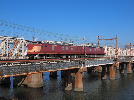 クモヤ443   東海道本線新大阪~大阪02