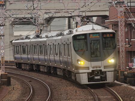 225系区間快速 阪和線美章園駅01