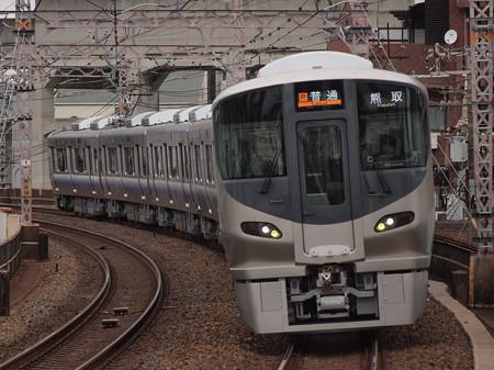 225系普通 阪和線美章園駅02