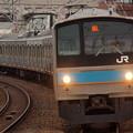 205系普通  阪和線美章園駅01