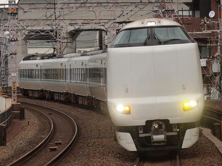 287系特急くろしお  阪和線美章園駅01