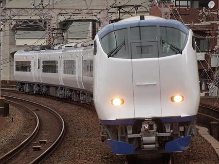 281系特急はるか  阪和線美章園駅02