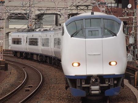 281系特急はるか  阪和線美章園駅03