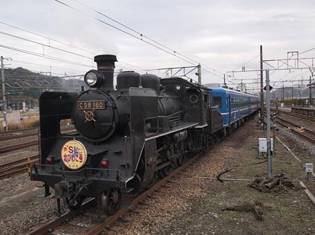 C56 SL北びわこ回送 北陸本線米原駅03