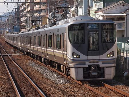 225系新快速 東海道本線甲南山手駅