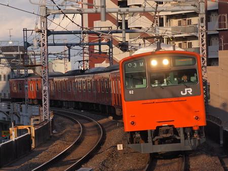 201系普通  大阪環状線寺田町駅02