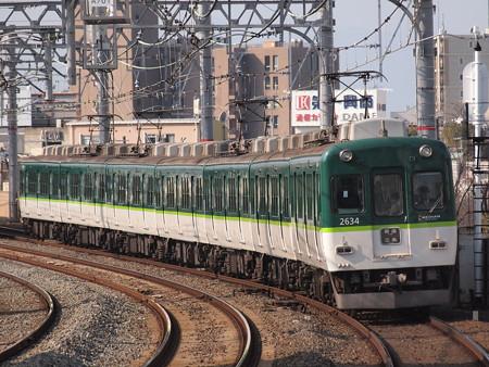 京阪2600系普通 京阪本線西三荘駅