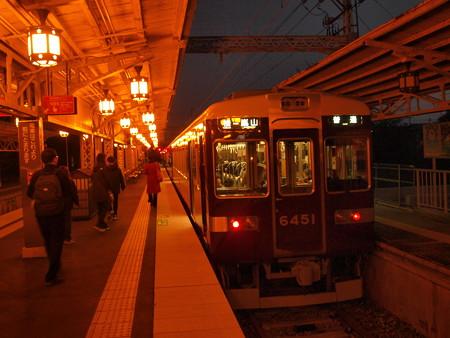 阪急6300系普通 阪急嵐山線嵐山駅