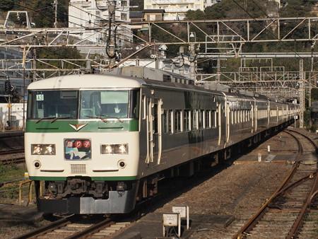 185系特急踊り子 東海道本線熱海駅02