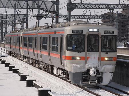 313系普通  関西本線八田駅03