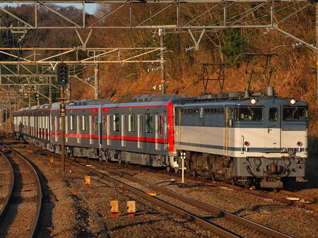EF65 東武70000系甲種 東海道本線函南駅03
