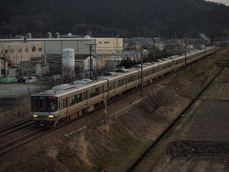 223系新快速  東海道本線安土~能登川02