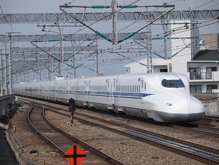 N700系のぞみ 山陽新幹線西明石駅