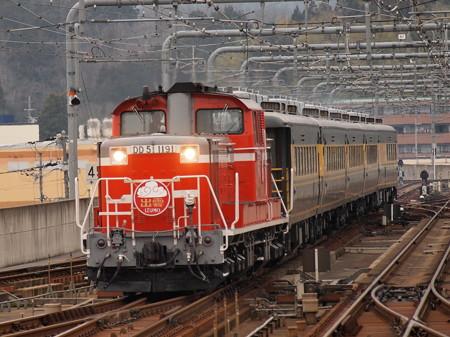 DD51 サロンカーなにわ  山陰本線福知山駅03
